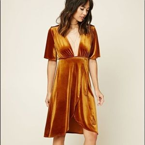 Ginger Velvet Knee Length Dress